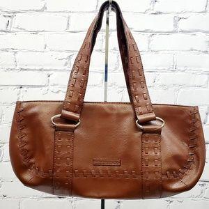 BCBG Women's Brown Leather Shoulder Bag Purse